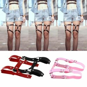 Image is loading Style-Stockings-Harness-Garter-Belt-Suspenders-Leg-Ring-