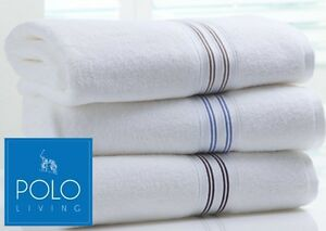 POLO-WHITE-COTTON-BATH-TOWEL-WITH-CONTRAST-COLOURED-BORDER