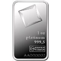 1 oz Valcambi Platinum Bar