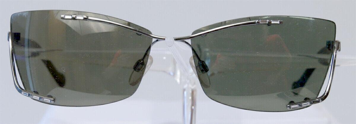 Aigner gafas de sol negro plata señora sin márgenes extravagante Sunglasses Ladies