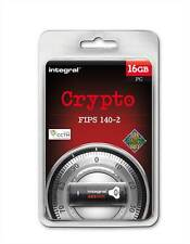 Integral 16GB Crypto FIPS 140-2 SECURE USB Stick for Windows - Protect Your Data