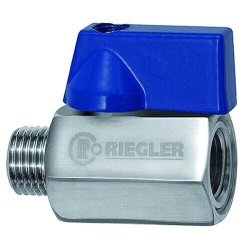 Mini-Kugelhahn Edelstahl 1.4401 G 1//4 IG//AG mit Aluhebel