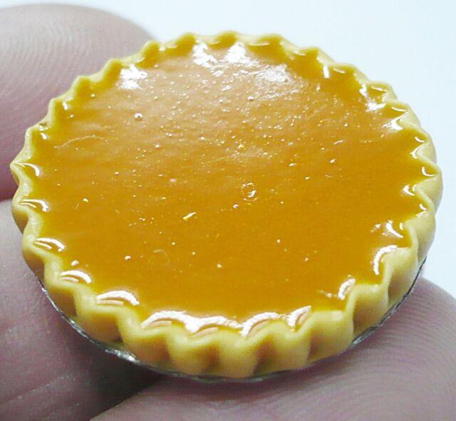 Filled Apricot Tart  On Tin Pans Dollhouse Miniatures Food Bakery