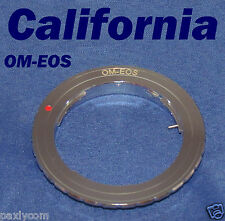 Olympus OM Lens to Canon EOS EF Mount Adapter Ring 550D 7D 5D Mark II 60D XTi
