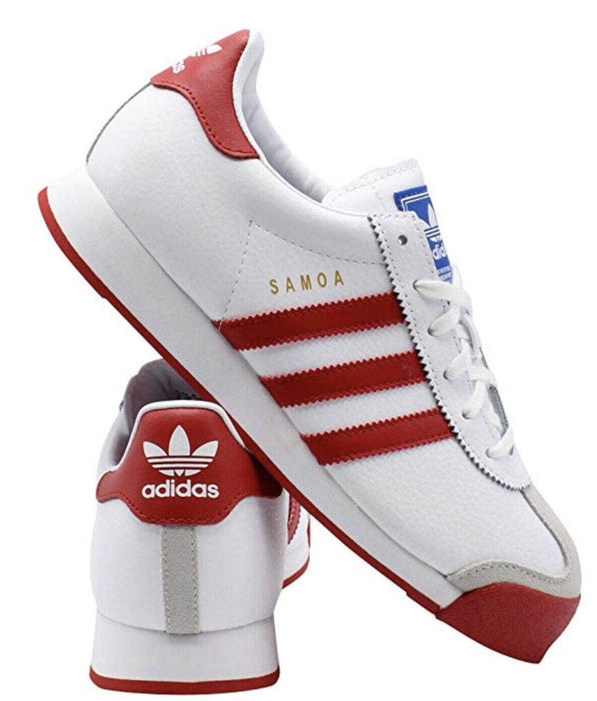 Neu Adidas Samoa Klassisch Athletic Turnschuhe Leder Herren Weiß Alle Größen