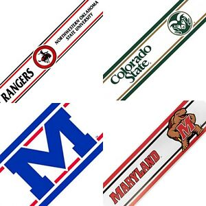 Details About Ncaa Prepasted Wall Borders College Sports Logo Wallpaper Decor Pick Your Team