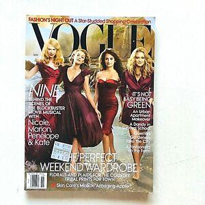 US Vogue magazine USA november 2009 novembre Kidman Cotillard Cruz Hudson