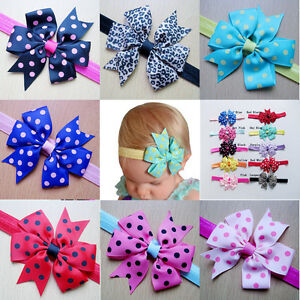 10Pcs-Kids-Girls-Baby-Toddler-Cute-Bow-Headband-Headwear-Hair-Band-Accessories