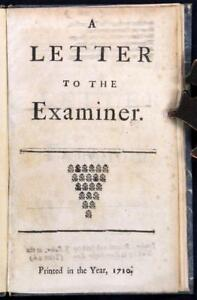 Henry-St-John-Letter-to-the-Examiner-1710-First-Edition-Jonathan-Swift-Reserve
