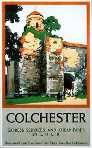 Vintage LNER Colchester Essex Railway Poster A3//A2//A1 Print