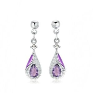February-Birthstone-Natural-Amethyst-Earrings-w-Diamonds-in-Platinum-over-Brass