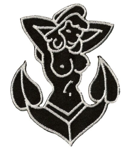 Ecusson patche Ancre Tattoo patch marine marin DIY brodé thermocollant