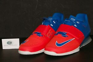 promo code b3a9d a4f1e Details about Nike Men's Romaleos 3 AMP Weightlifting Shoes Blue Orange  923287 402 Sz 11.5-12