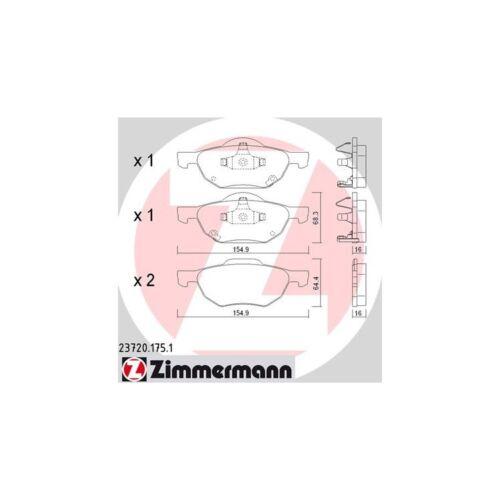 Tourer 2,0-2,4 Zimmermann Bremsbeläge vorne Honda Accord VII