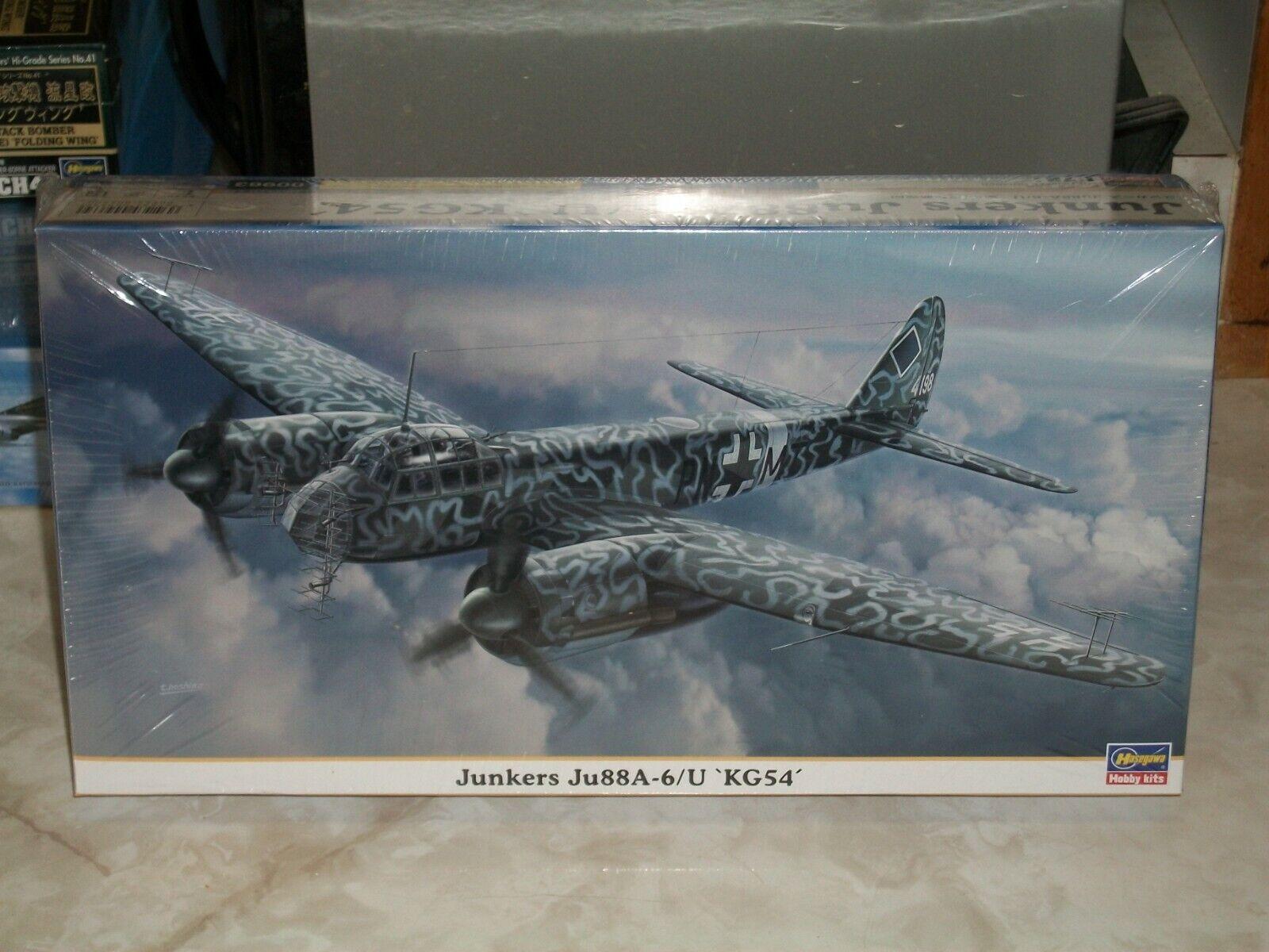 Hasegawa 1 72 Scale Junkers Ju 88A-6 U 'KG54'. - Factory Sealed