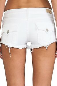 Womens White Jean Shorts - The Else