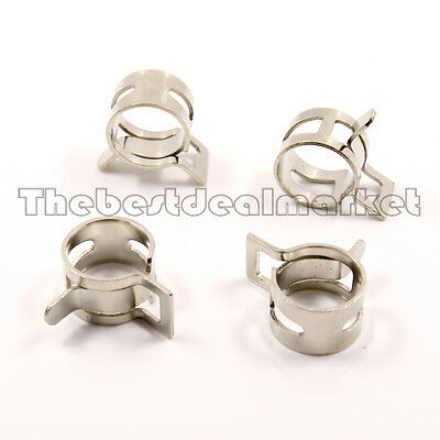 "4Pcs Silver Clamp For  Water Cooling Radiator For 3/8"" ID 5/8"" OD PVC Turbing"