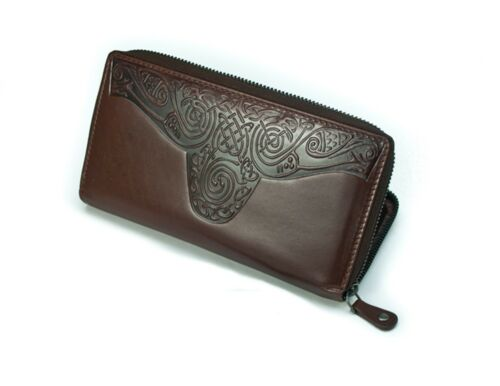 New Celtic Wallet Ladies Real Leather Made in Ireland Lee River Leather