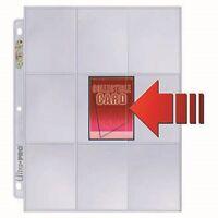 1 Box Of 100 Ultra Pro Platinum 9 Pocket Pages Side Loading Card Storage