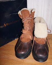 Polo Ralph Lauren  Tavin Rollover Sheepskin Shearling Boots Hiking  Boot 11.5 D