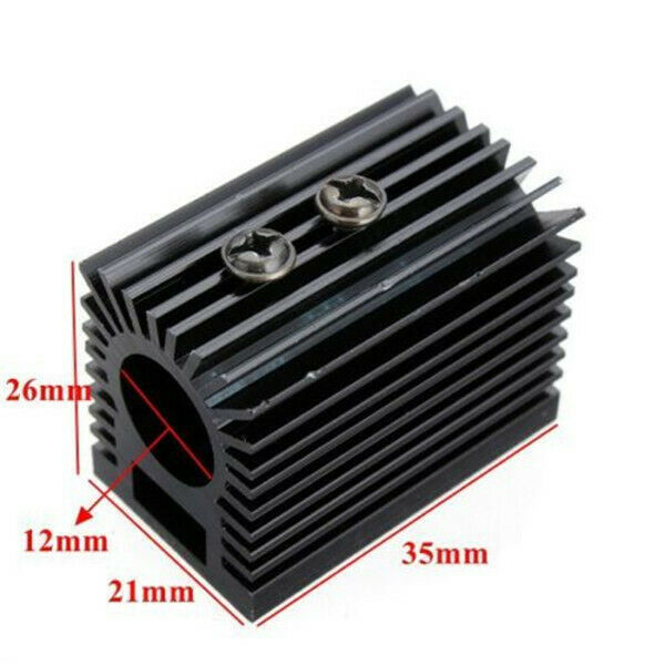 12mm Laser Module Heat Sink Holder Mount Cooling Heat Sink CNC Parts x1