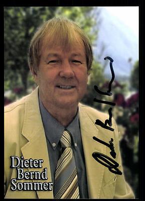 GroßZüGig Dieter Bernd Sommer Autogrammkarte Original Signiert ## Bc 46856 National