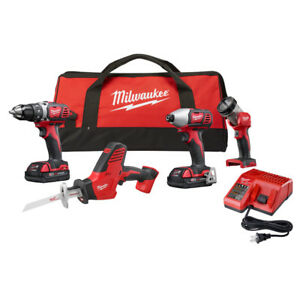Milwaukee-M18-4-Pc-Combo-Kit-2695-24CX-New