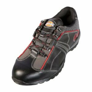 DICKIES-Iowa-Safety-Work-Shoe-Black-Red-Mens-Black-UK8