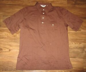 Vintage-Sears-Dragon-Men-039-s-Short-Sleeve-Polo-Shirt-Brown-Size-XL-NEW