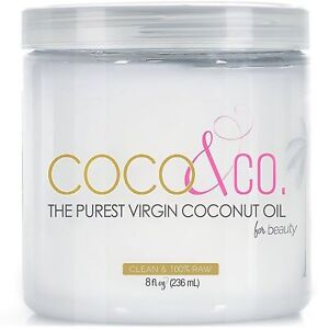 COCO & CO Coconut Oil for Hair & Skin By Beauty Grade 100% RAW 8 oz  & 15 Oz