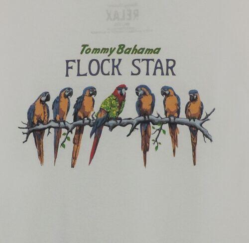 "Tommy Bahama White /""FLOCK STAR/"" T Shirt Brand New"