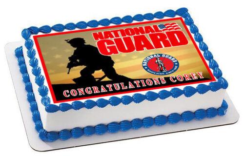 National Guard Decor Edible Cake Topper OR Cupcake Topper
