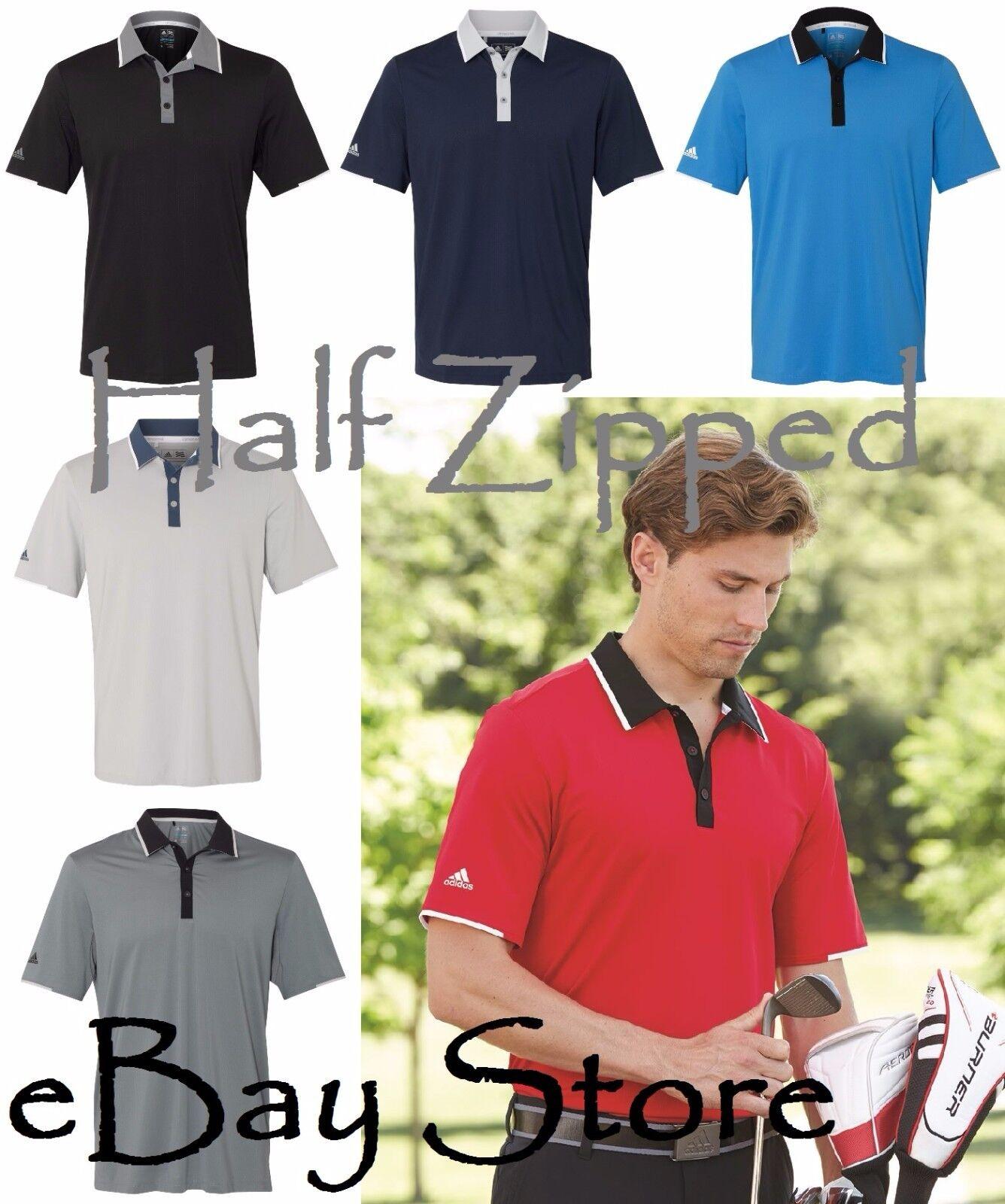 980f1f1a Adidas Mens Climacool Performance Polo Golf Sport Shirt A166 S-3XL