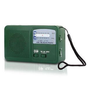 Solar Hand Crank Emergency AM/FM Radio LED Flashlight Dynamo Cellphone Charger