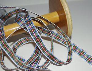 *** Berisfords Robe Stewart-tartan-ruban - 10mm Large ***-afficher Le Titre D'origine Nombreux Dans La VariéTé