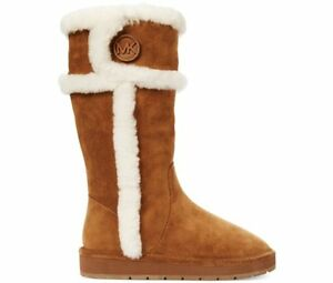 9ccf057f0 Details about MICHAEL KORS WINTER SHEARLING LOGO TALL COLD WEATHER BOOTS 2  COLORS I LOVE SHOES