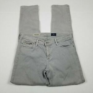 AG-Adriano-Goldschmied-Stevie-Ankle-Zip-Jeans-Womens-Size-28-Gray-Slim-Straight