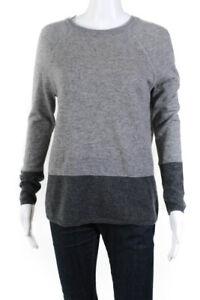 VINCE-da-donna-cashmere-girocollo-a-maniche-lunghe-SWEATER-grigio-taglia-extra-small