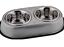 DOUBLE-DINER-SET-S-M-L-Non-Slip-Dog-Cat-Food-Water-Bowls-dm-Metal-Dish thumbnail 4