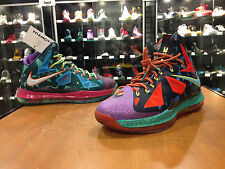 """NIKE LEBRON 10 X """"WHAT THE MVP"""" PREMIUM Guaranteed Authentic DS Size 10 B stamp"""