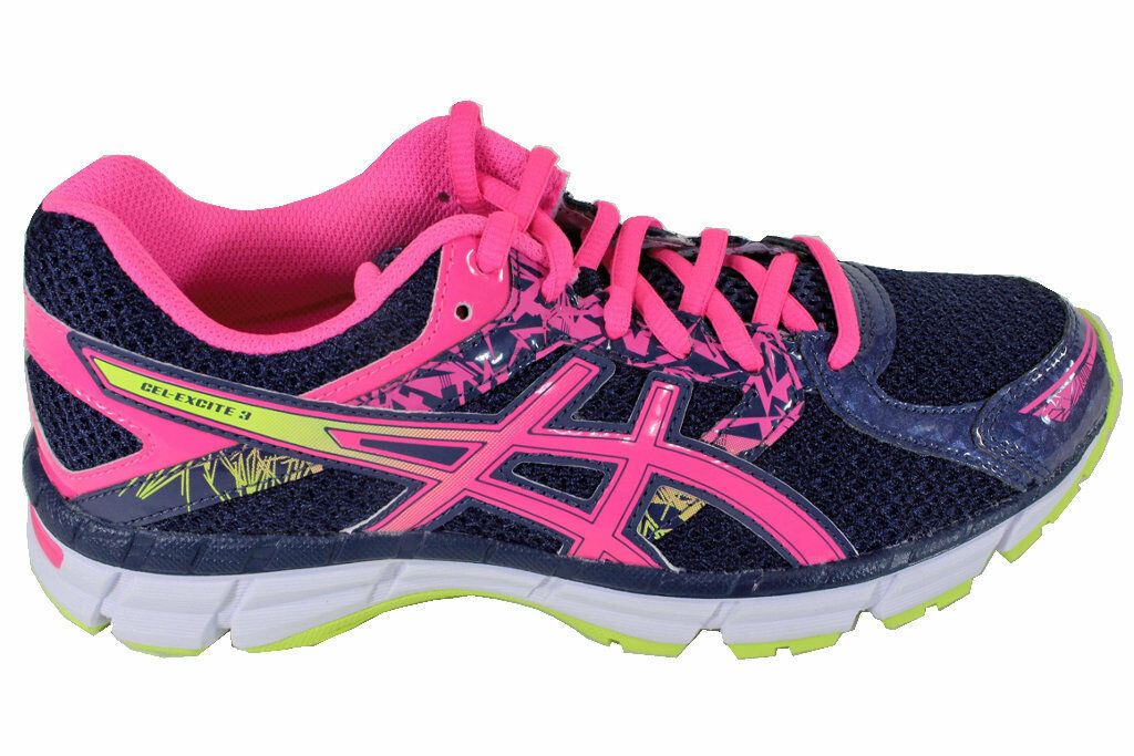 ASICS GEL-Excite 3 Midnight / Hot Rose / Flash Jaune Femme Running Chaussures