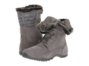 7569f7e7e Womens The North Face Nuptse Purna II Gray Waterproof Winter Boots ...