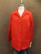 NEW Vtg USA Made Bold Red Lab Coat Sz 46 Smock Scrub Medical Art Chef Jacket