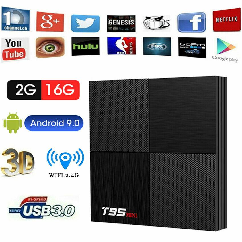 s-l1600 T95 Mini Android 9.0 HD 4K Smart TV Box H6 Quad Core WiFi 3D Media Player 2+16GB