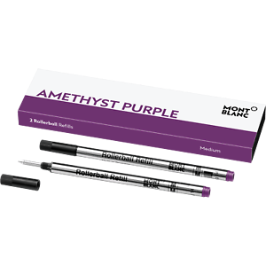 MONTBLANC-Amethyst-Purple-Medium-ROLLERBALL-Pack-w-2-Refills-BRAND-NEW