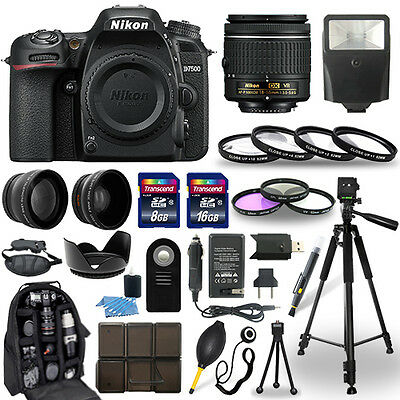 Nikon D7500 DSLR Camera + 18-55mm NIKKOR Lens + 30 Piece Accessory Bundle