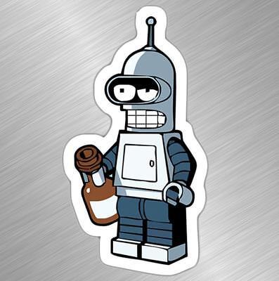 "Drunken Bender Futurama Vinyl Decal Sticker Truck Laptop Funny Comic 6/"""