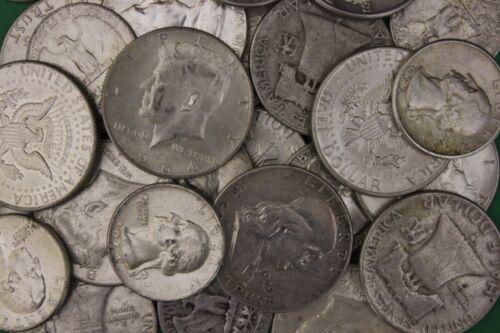 MAKE OFFER 1 Troy Ounce 1964 Kennedy Franklin Washington Junk 90/% Silver Coins