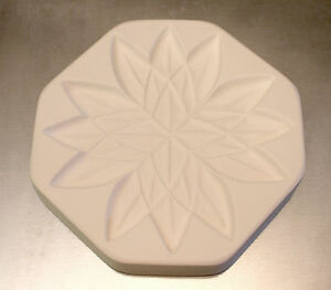 Lotus Flower Texture Tile Mold for Glass Slumping 7 Inch Diameter
