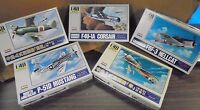 Lot Of 5 Arii 1/48 Scale Plastic Models Ww2 Fighter Planes